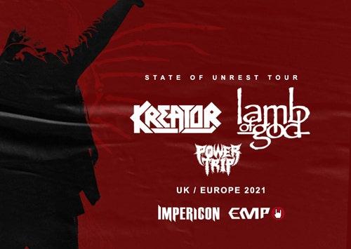 LAMB OF GOD + KREATOR - Tour 2021!