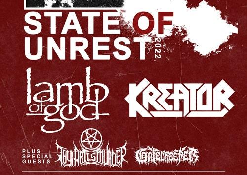 LAMB OF GOD + KREATOR - Postpones Tour to 2022!